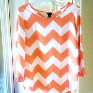 Chevron print blouse